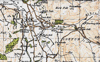 Old map of Aiken Beck in 1947