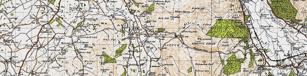 Old map of Widow Hause in 1947