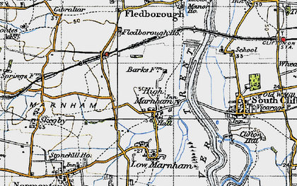 Old map of High Marnham in 1947