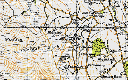 Old map of Bannest Hill in 1947