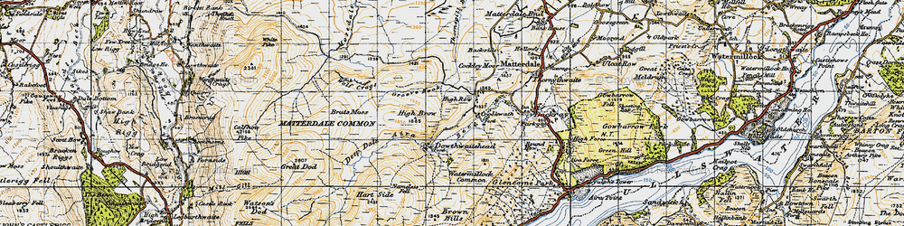 Old map of Aira Beck in 1947