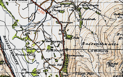 Old map of Bakestall in 1947