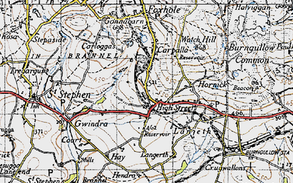 Old map of High Street in 1946