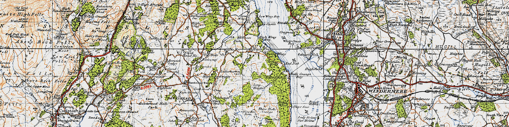 Old map of Balla Wray in 1947