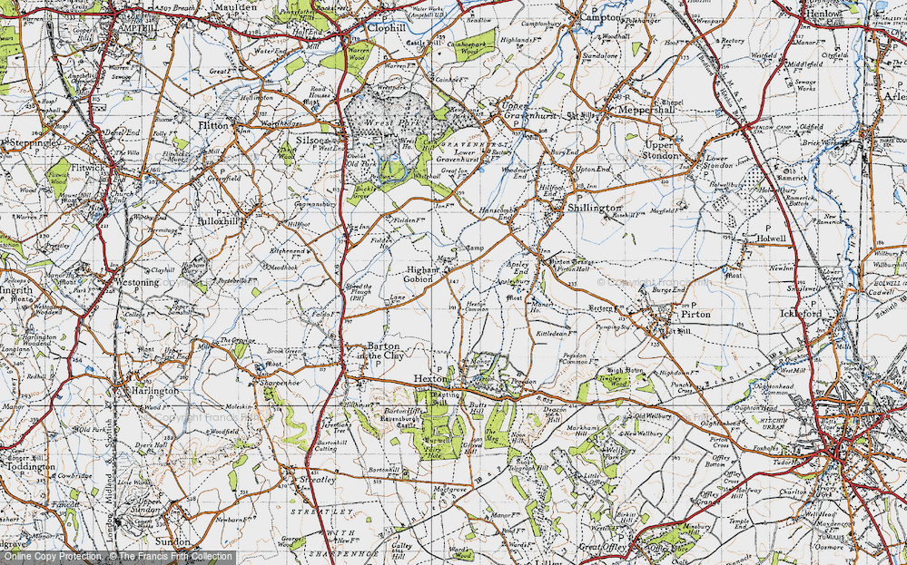 Old Map of Higham Gobion, 1946 in 1946