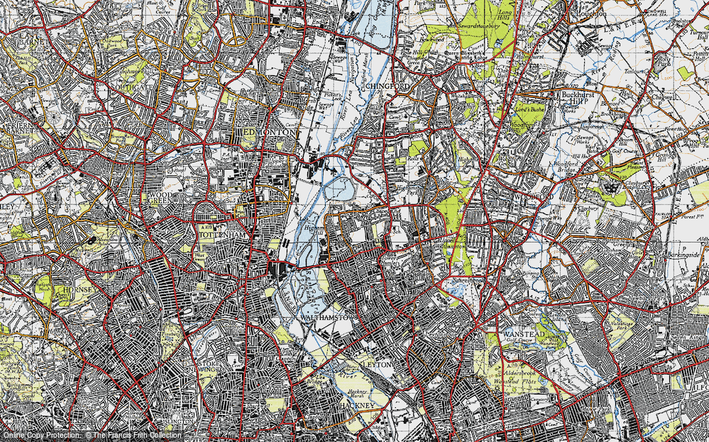Old Map of Historic Map covering Banbury Resr in 1946