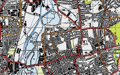 Old map of Banbury Resr in 1946