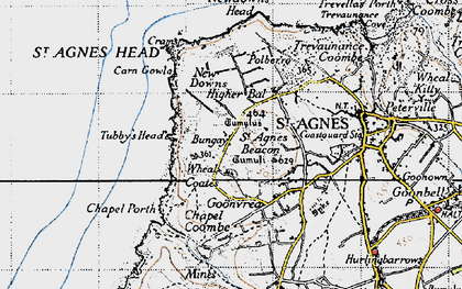Old map of Higher Bal in 1946