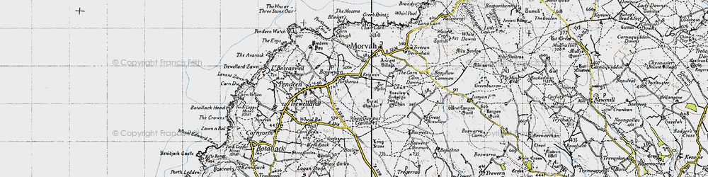 Old map of Woon Gumpus Common in 1946