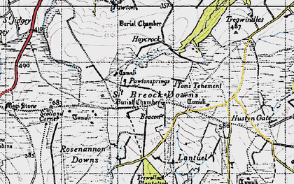 Old map of Higher Cransworth in 1946
