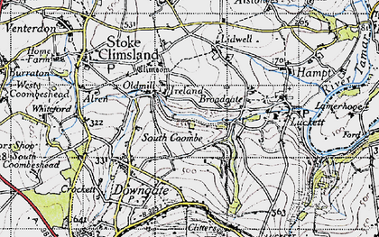 Old map of Higher Land in 1946