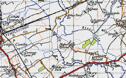 Old map of Abbey Ford Br in 1945
