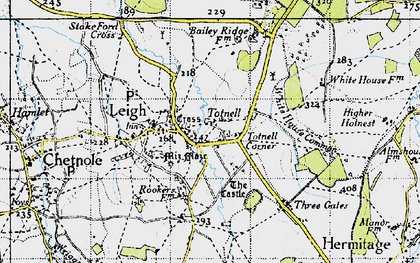 Old map of White House Common in 1945