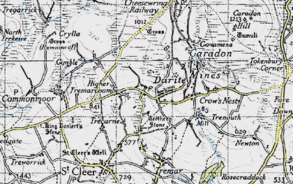 Old map of Higher Tremarcoombe in 1946