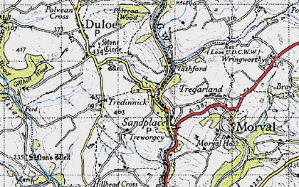 Old map of Highercliff in 1946