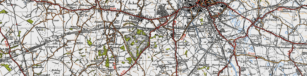 Old map of Winstanley Hall in 1947