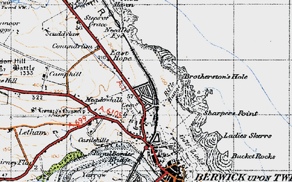 Old map of Letham Shank in 1947
