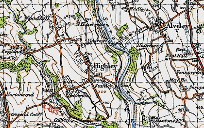 Old map of Highley in 1947