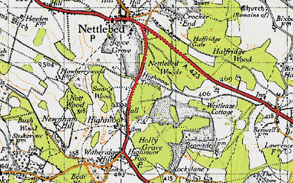 Old map of Westleaze Cottages in 1947