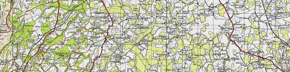 Old map of White Beech in 1940