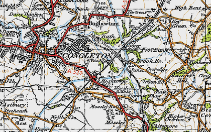 Old map of Hightown in 1947