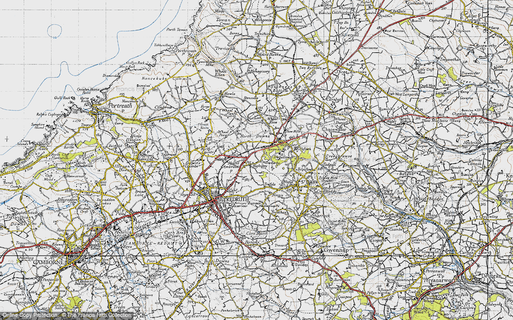 Old Map of Highway, 1946 in 1946