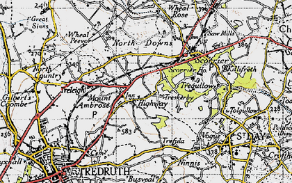 Old map of Highway in 1946