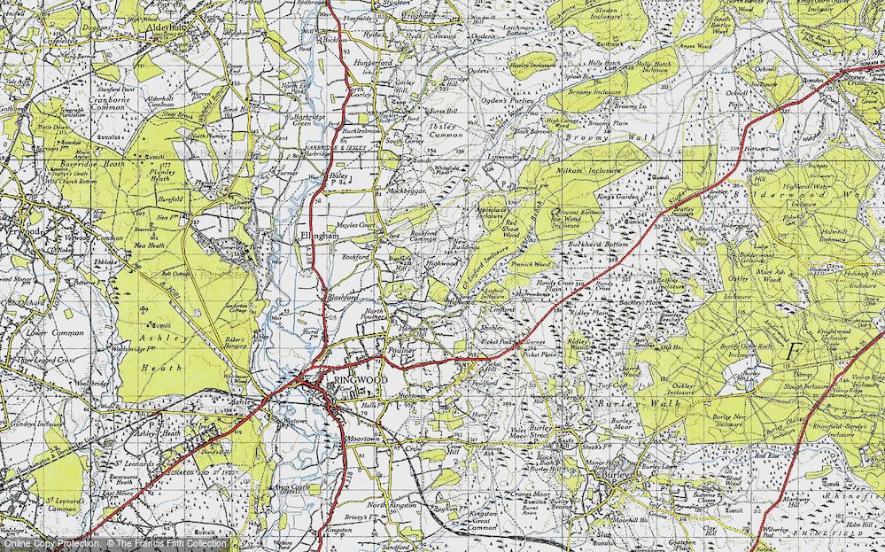 Old Map of Highwood, 1940 in 1940