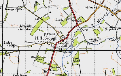 Old map of Wimbotsham Plantn in 1946