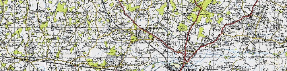Old map of Hildenborough in 1946