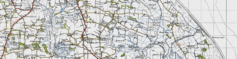 Old map of White Slea in 1945