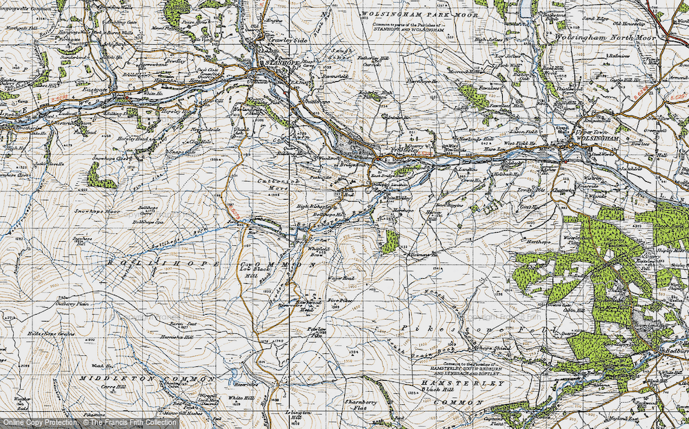 Old Map of Historic Map covering Allotment Ho in 1947