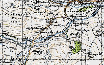 Old map of White Kirkley in 1947