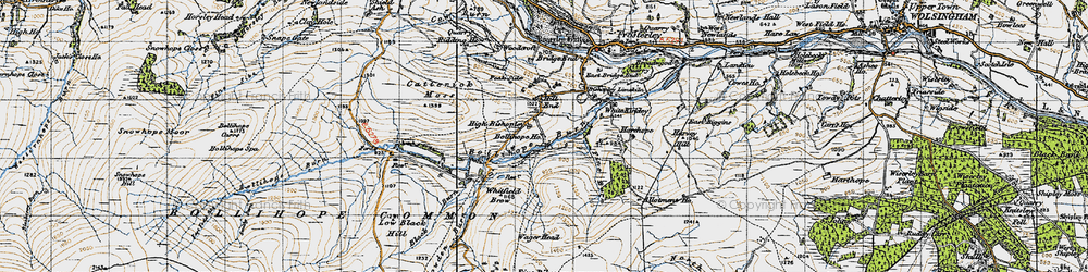 Old map of Allotment Ho in 1947
