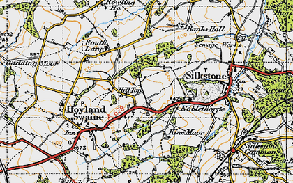 Old map of Hill Top in 1947