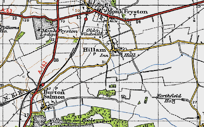 Old map of Hillam in 1947