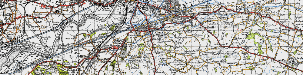 Old map of Hillcliffe in 1947