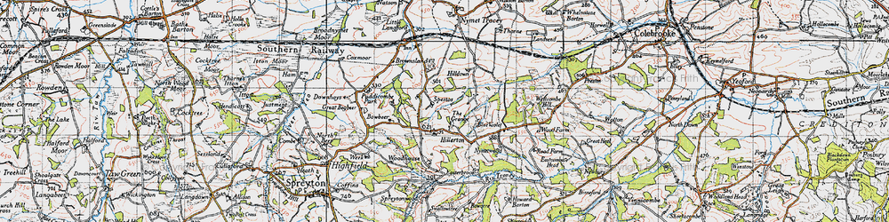 Old map of West Wotton in 1946