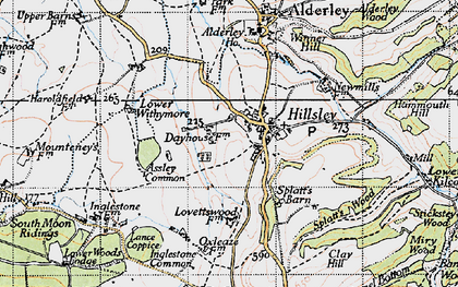 Old map of Assley Common in 1946