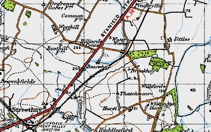 Old map of Williford in 1946