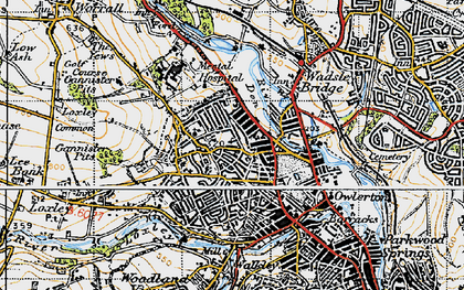 Old map of Hillsborough in 1947