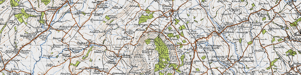 Old map of Abdon Burf in 1947