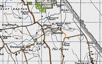 Old map of Admiral Storr's Tower in 1947
