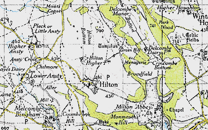 Old map of Hilton in 1945