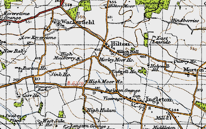 Old map of Todwell Ho in 1947