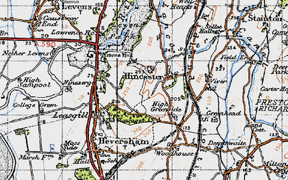 Old map of Levens Park in 1947