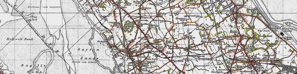 Old map of Westwood Grange in 1947