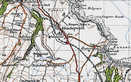 Old map of Hinderwell in 1947