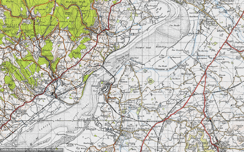Old Map of Historic Map covering Tites Point in 1946