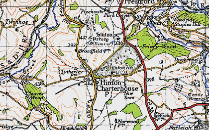 Old map of Hinton Charterhouse in 1946